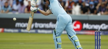 London: England's Jos Buttler in action during the final match of the 2019 World Cup between New Zealand and England at the Lord's Cricket Stadium in London, England on July 14, 2019. (Photo: Surjeet Yadav/IANS)