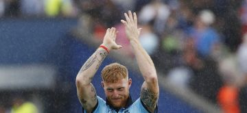 Birmingham: England's Ben Stokes celebrates after winning the second semi-final match of the 2019 World Cup between against Australia at the Edgbaston Cricket Stadium in Birmingham, England on July 11, 2019. England won by 8 wickets. (Photo: Surjeet Kumar/IANS)