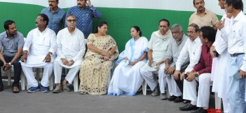 Kolkata: West Bengal Chief Minister Mamata Banerjee during her visit to review the preparations for Marty's Day rally, in Kolkata on July 20, 2019. (Photo: IANS)