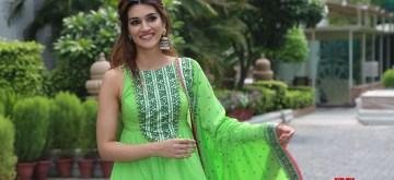 "New Delhi: Actress Kriti Sanon during the promotion of her upcoming film ""Arjun Patiala"" in New Delhi, on July 23, 2019. (Photo: Amlan Paliwal/IANS)"