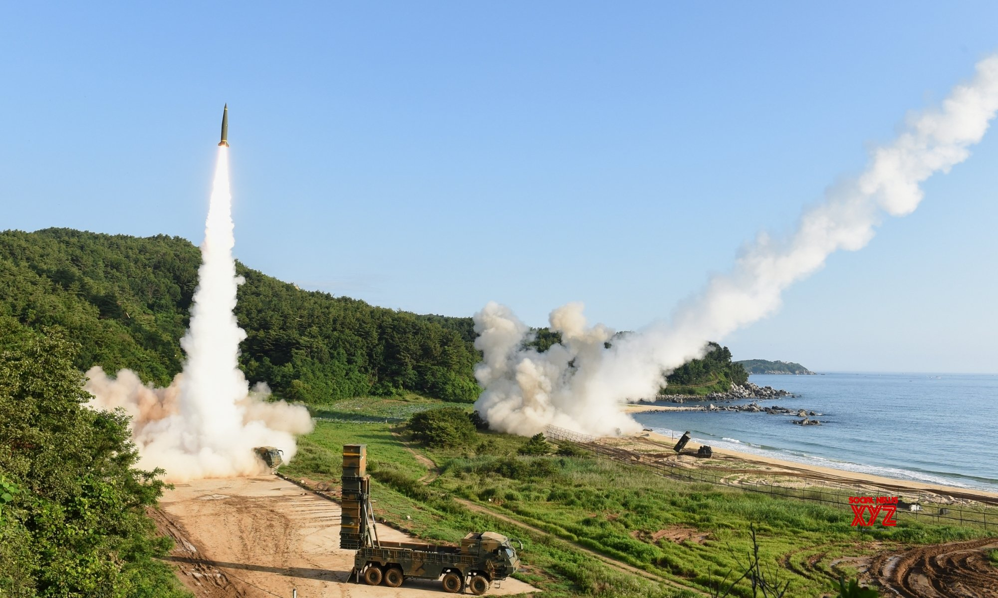 North Korea launches projectiles, rejects talks with South