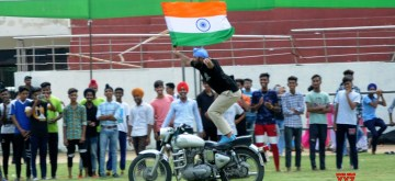Amritsar: A Punjab Police personal during full dress rehearsals for the 73rd Independence Day parade, in Amritsar on Aug 13, 2019. (Photo: IANS)