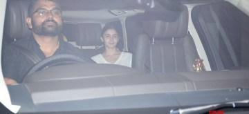 Actress Alia Bhatt seen outside filmmaker Karan Johar's house in Mumbai on Aug 13, 2019. (Photo: IANS)
