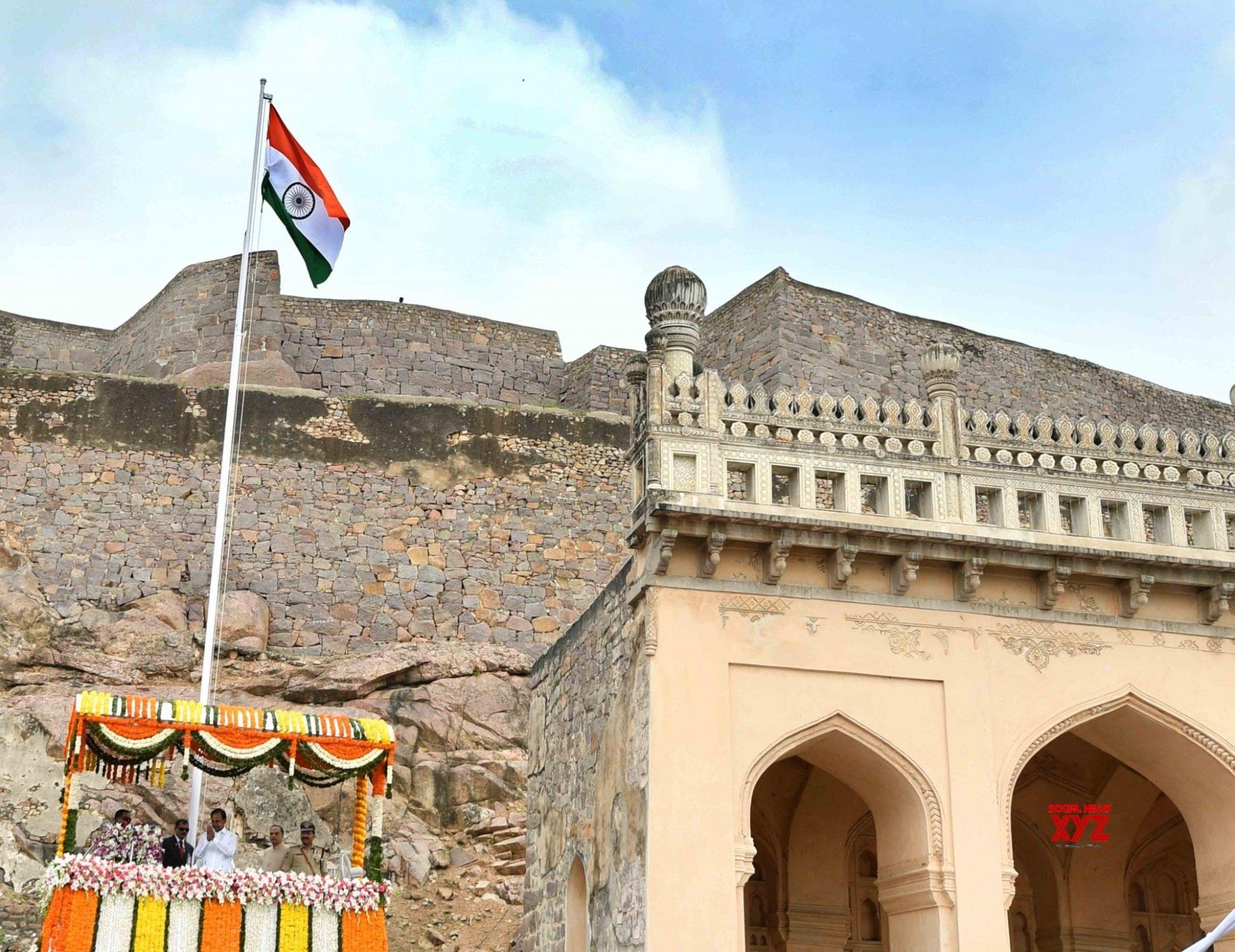 Hyderabad: K. Chandrashekar Rao during 73rd Independence Day in Telangana #Gallery
