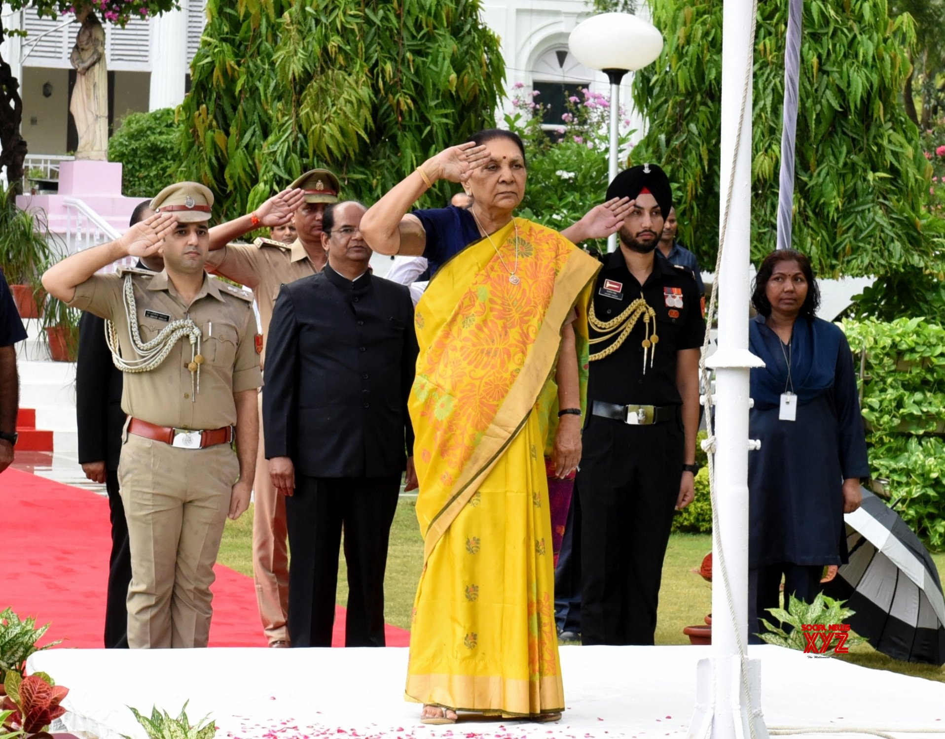 Lucknow: UP Governor during 73rd Independence Day celebrations #Gallery