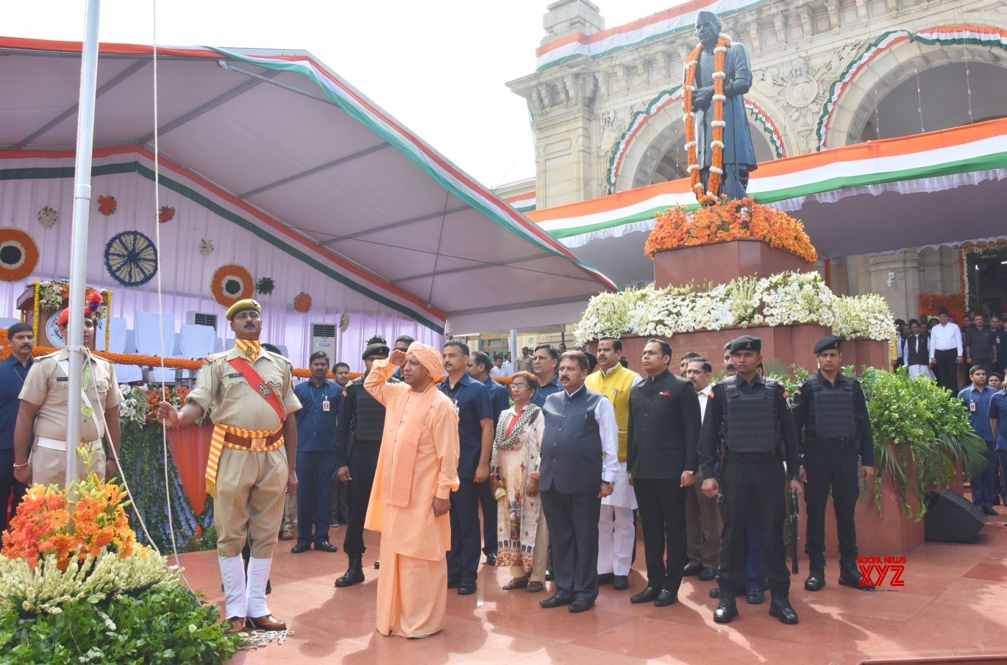 Lucknow: UP CM during 73rd Independence Day celebrations #Gallery