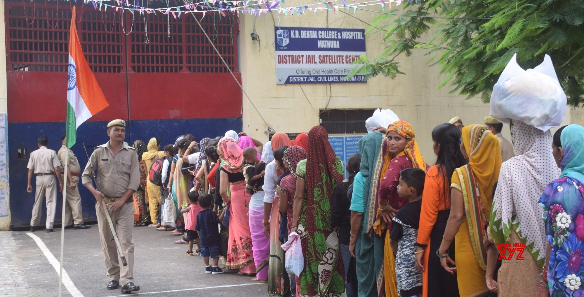 Mathura: Women queue up to celebrate Raksha Bandhan at Mathura District jail #Gallery