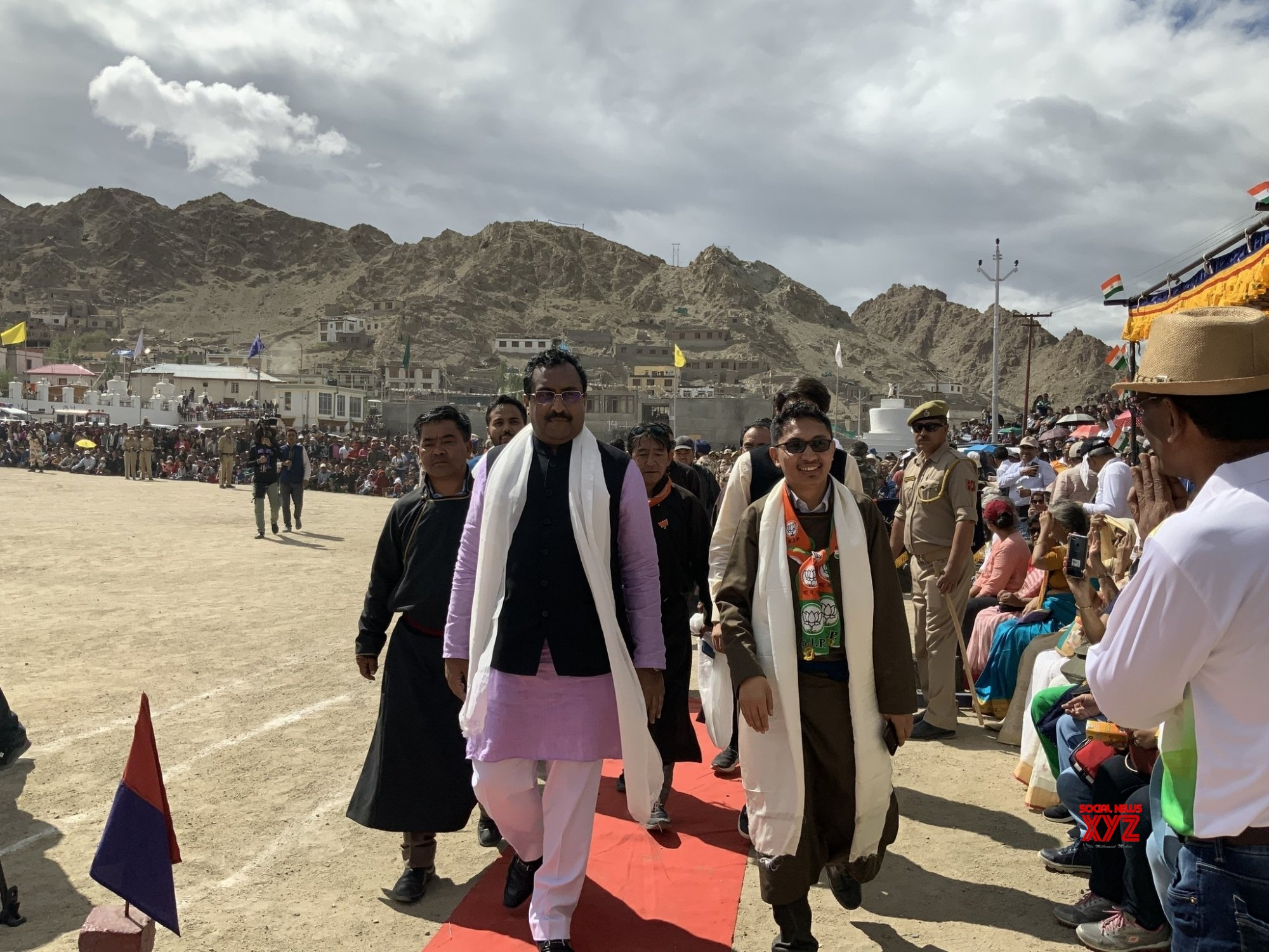 Ladakh: Ladakh BJP MP during 73rd Independence Day celebrations #Gallery