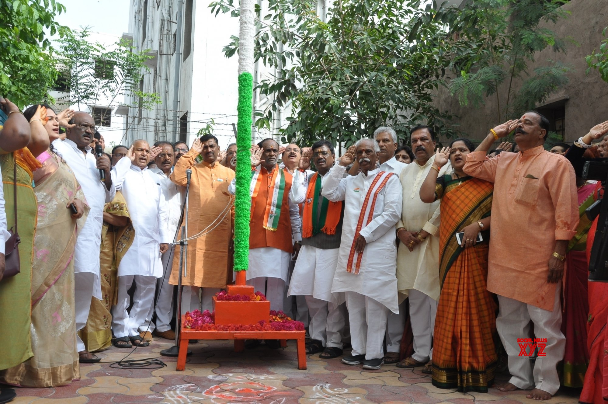 Hyderabad: 73rd Independence Day celebrations at Telangana BJP headquarters #Gallery