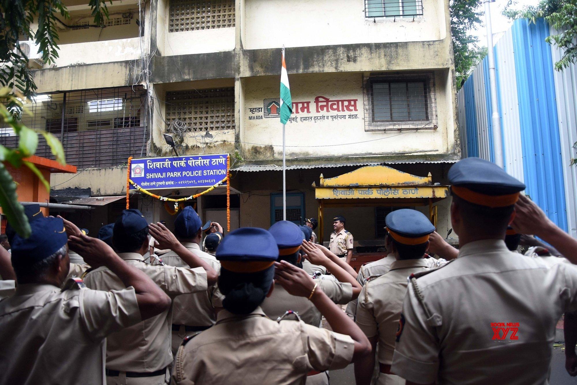 Mumbai: Mumbai Police during 73rd Independence Day celebrations #Gallery
