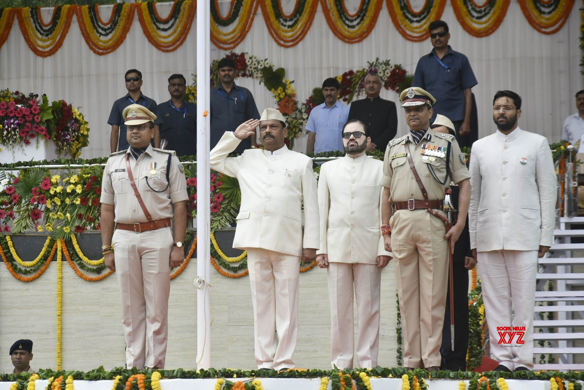 Ranchi: Independence Day programme - CM Raghubar Das #Gallery