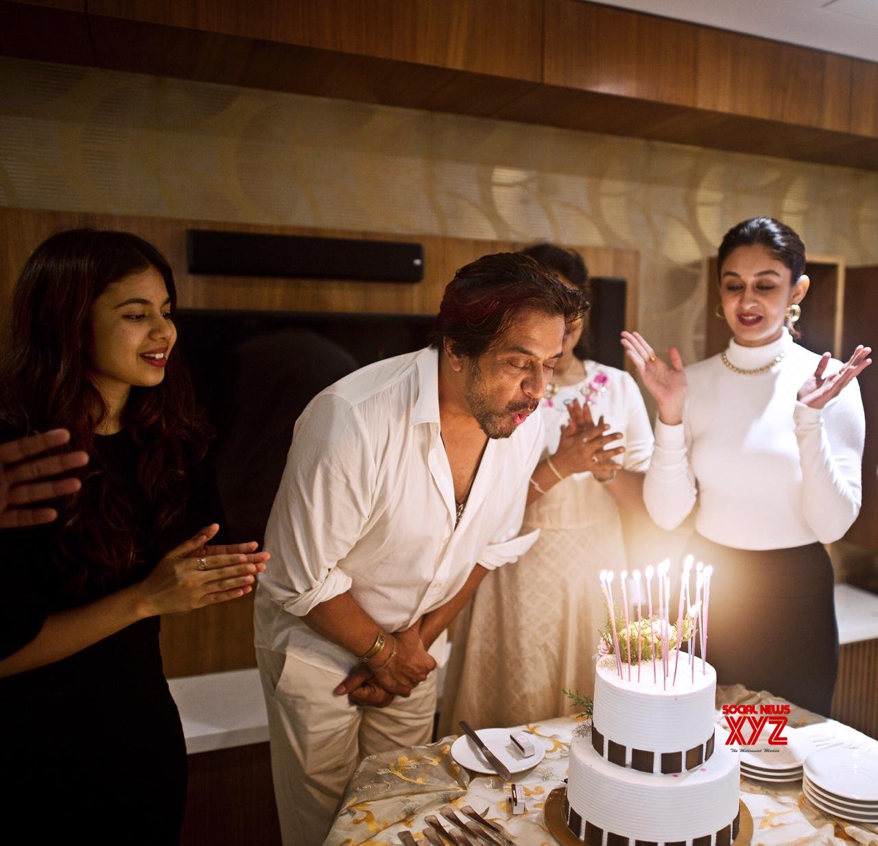 Arjun Sarja Birthday Celebrations In Chennai Today Gallery
