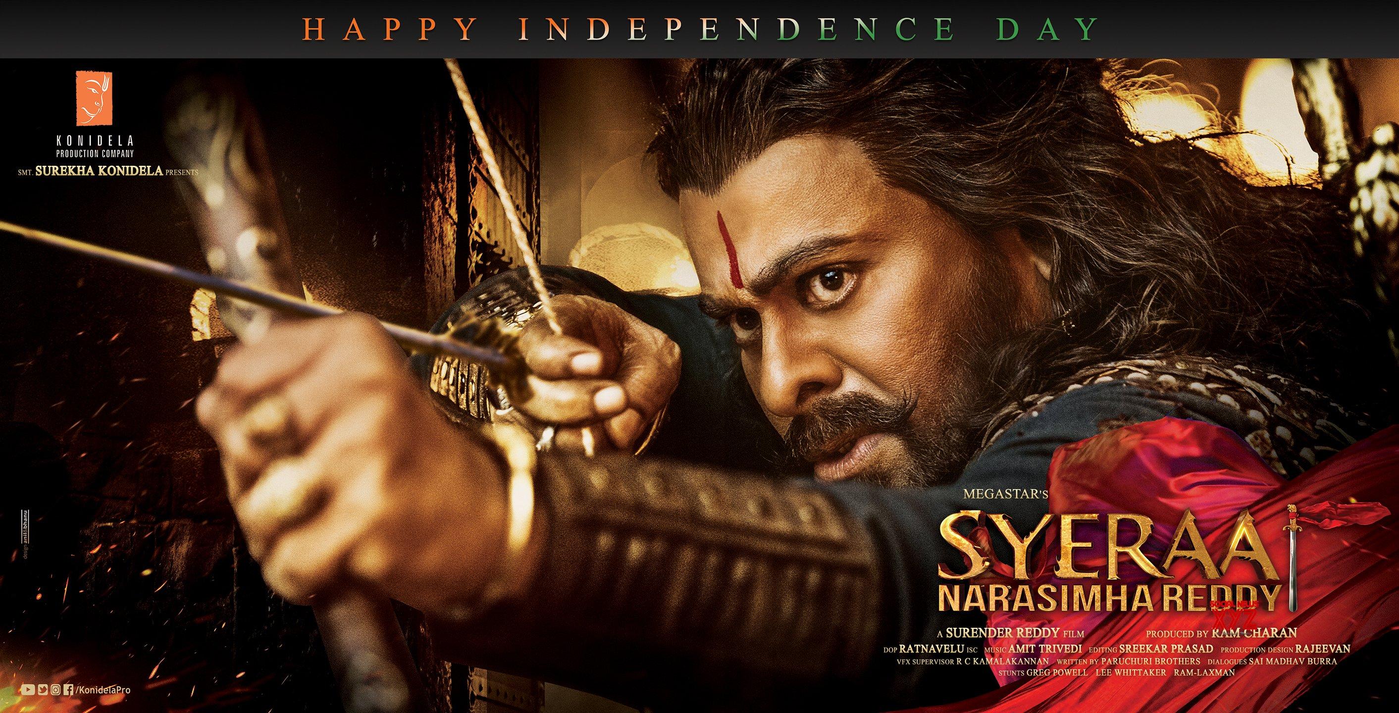 Megastar Chiranjeevi SyeRaa Movie Independence Day HD Poster And Still