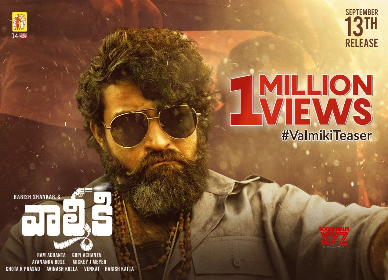 Varun Tej's Valmiki Teaser Goes Past 1 Million Views