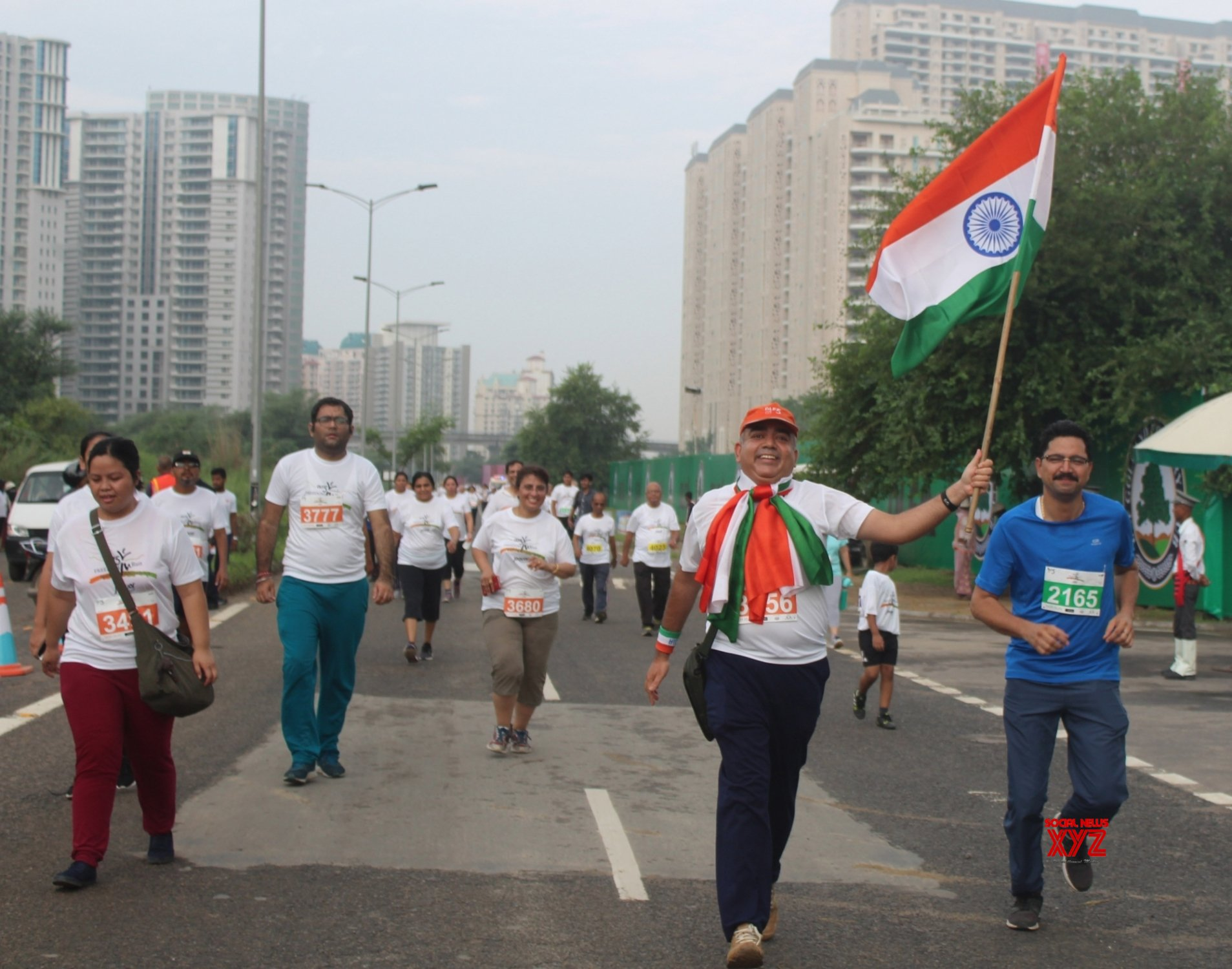 "Gurugram: ""Freedom Run"" organised on 73rd Independence Day #Gallery"