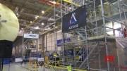 NASA official gets look at next moon rocket [HD] (Video)