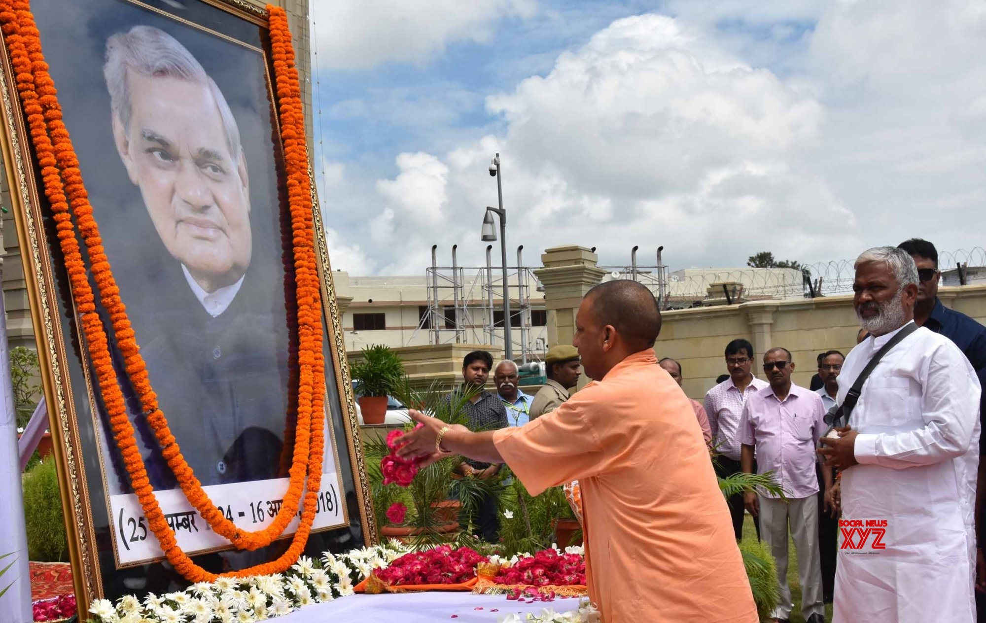 Lucknow: Atal Bihari Vajpayee's first death anniversary - UP CM pays tributes #Gallery