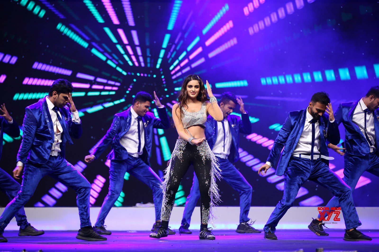 Actress Nidhhi Agerwal Dance Stills From SIIMA Awards 2019
