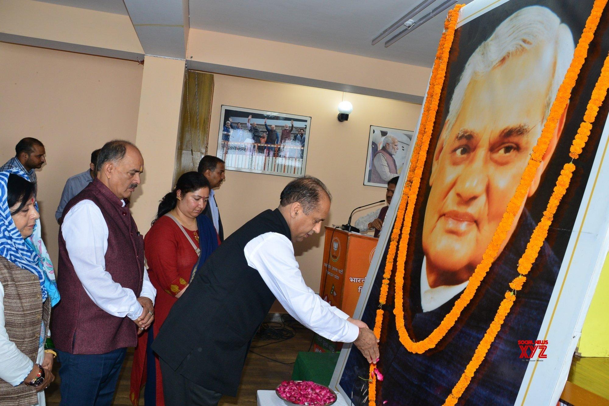 Shimla: Atal Bihari Vajpayee's first death anniversary - Himachal CM pays tributes #Gallery