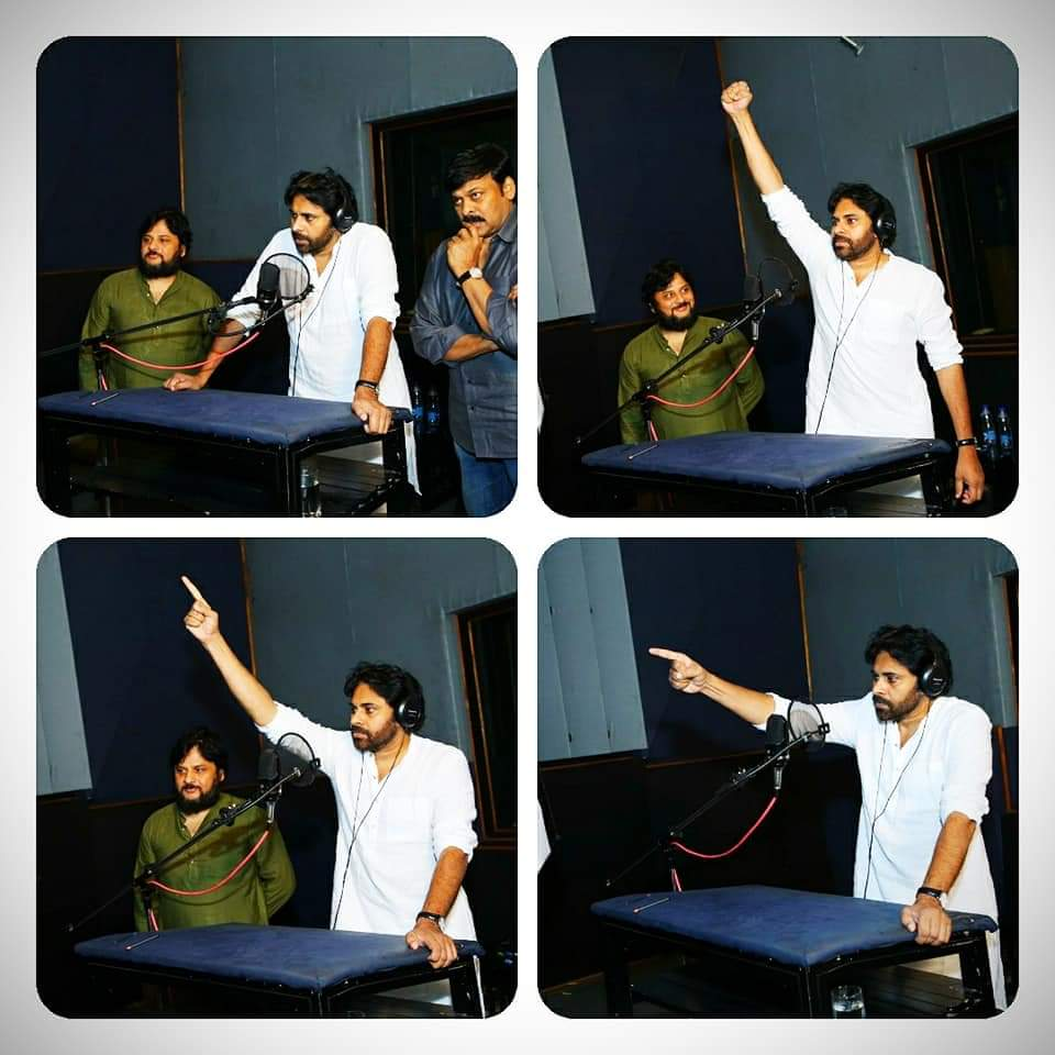 Viral Pic – Pawan Kalyan Voiceover For Sye Ra