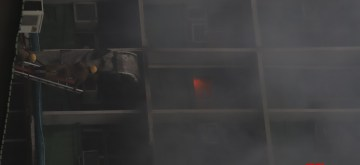 New Delhi: Fire breaks out on two floors of the AIIMS hospital building in New Delhi on Aug 17, 2019. No casualties have been reported so far. (Photo: IANS)