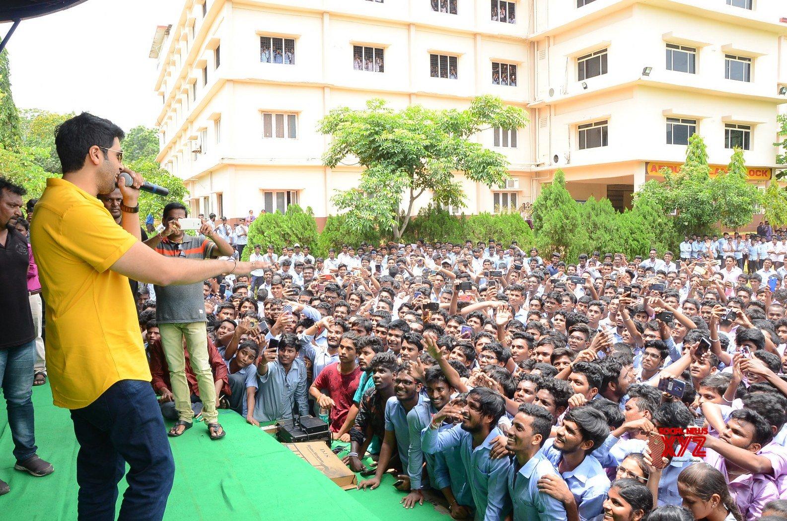 Evaru Movie Team At Vizag Sri Chaitanya Junior College - Gallery
