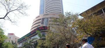 The 30-scrip Sensitive Index (Sensex)  - a benchmark index of Indian equities markets, of the S&P Bombay Stock Exchange (BSE) Monday touched a record high of 28,010 points in the intra-trade session Wednesday (Nov 5, 2014), surpassing the previous high of 27,969.82 points hit hit on Monday. (File Photo: IANS)