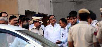 New Delhi: Former Union Minister P. Chidambaram at Rouse Avenue court complex in New Delhi on Aug 22, 2019. A special CBI court here on Thursday granted the probe agency four days of custody of former Union Minister P. Chidambaram for questioning in the INX Media case. Special Judge Ajay Kumar Kuhar announced the order after reserving it for some time following the hearing where Solicitor General Tushar Mehta appeared for the Central Bureau of Investigation, and senior Congress leaders Kapil Sibal and Abhishek Manu Singhvi appeared for Chidambaram. (Photo: IANS)