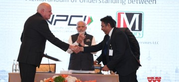 Abu Dhabi: Prime Minister Narendra Modi witnesses the signing of Memorandum of Understanding (MoU) between India and UAE at the launch of RuPay card in Abu Dhabi, UAE on Aug 24, 2019. (Photo: IANS/MEA)