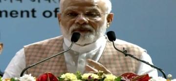 Mumbai: Prime Minister Narendra Modi addresses after inaugurating and laying foundation stone for various Mumbai Metro projects, on Sep 7, 2019. (Photo: IANS)