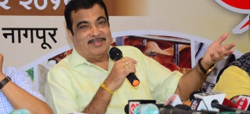 Nagpur: Union Road Transport and Shipping Minister Nitin Gadkari addresses a press conference in Nagpur on Sep 8, 2019. (Photo: IANS)