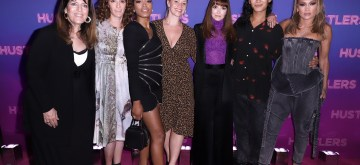 """NEW YORK, NEW YORK - SEPTEMBER 10: Elaine Goldsmith-Thomas, Jessica Elbaum, Keke Palmer, Director Lorene Scafaria, Alexander Wang and Jennifer Lopez at Alexander Wang & STXfilms' New York Special Screening of """"Hustlers"""" on September 10, 2019 in New York City. (Photo by John Parra/Getty Images for STXfilms / Alexander Wang)"""