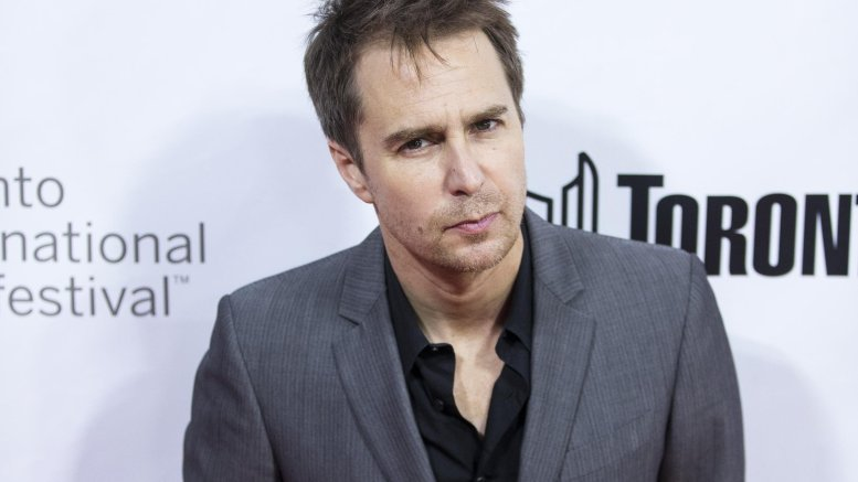Sam Rockwell dreads sitting on make-up chair for long