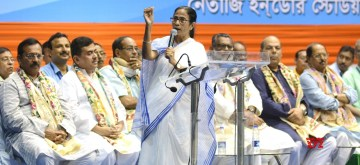 Kolkata: West Bengal Chief Minister Mamata Banerjee addresses during an organisational meeting of the State Government Employees` Federation, in Kolkata on Sep 13, 2019. (Photo: IANS)