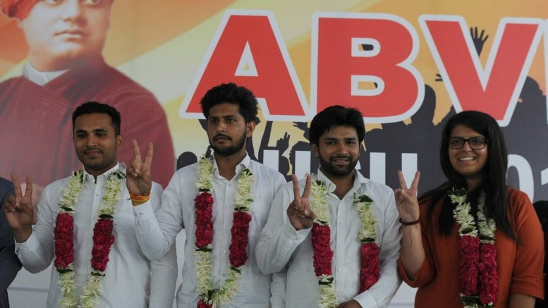 ABVP leads on two posts in DUSU polls