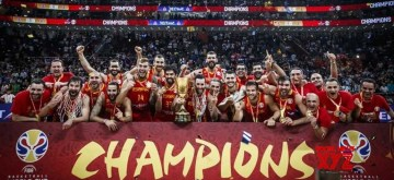 Beijing: Spain completed their undefeated run at the FIBA Basketball World Cup 2019 with a 95-75 victory against Argentina in the Final to capture the Naismith Trophy at the Wukesong Sport Arena in Beijing, China on Sep 15, 2019. (Photo: IANS)