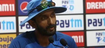 Mohali: India's batting coach Vikram Rathour addresses a press conference ahead of the second T20I match against South Africa, at the Punjab Cricket Association Stadium in Mohali, Chandigarh on Sep 17, 2019. (Photo: Surjeet Yadav/IANS)
