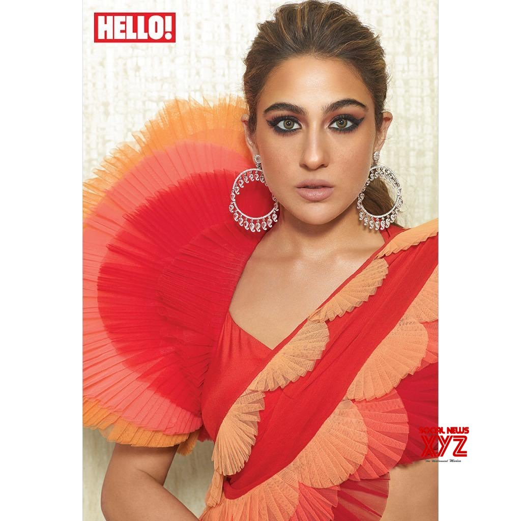 Sara Ali Khan And Her Brother Ibrahim Ali Khan New Stills From Hello Magazine India Photoshoot