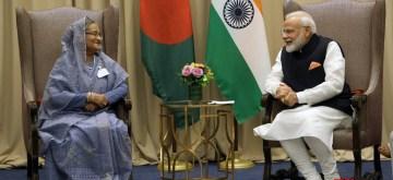 New York: Prime Minister Narendra Modi meets his Bangladeshi counterpart Sheikh Hasina, in New York on Sep 27, 2019. (Photo: Mohammed Jaffer/IANS)