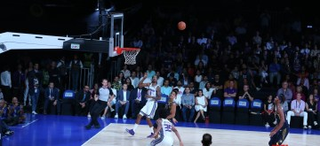 Mumbai: Players in action during an NBA Game between Indiana Pacers' and Sacramento Kings in Mumbai on Oct 4, 2019. (Photo: IANS)