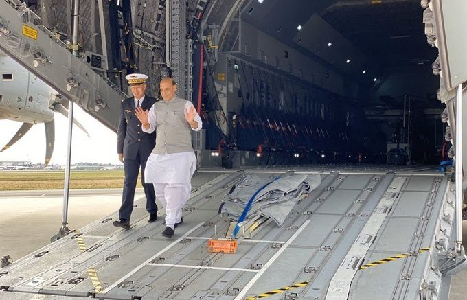 Rajnath hails Chirac, Vajpayee at Rafale handover