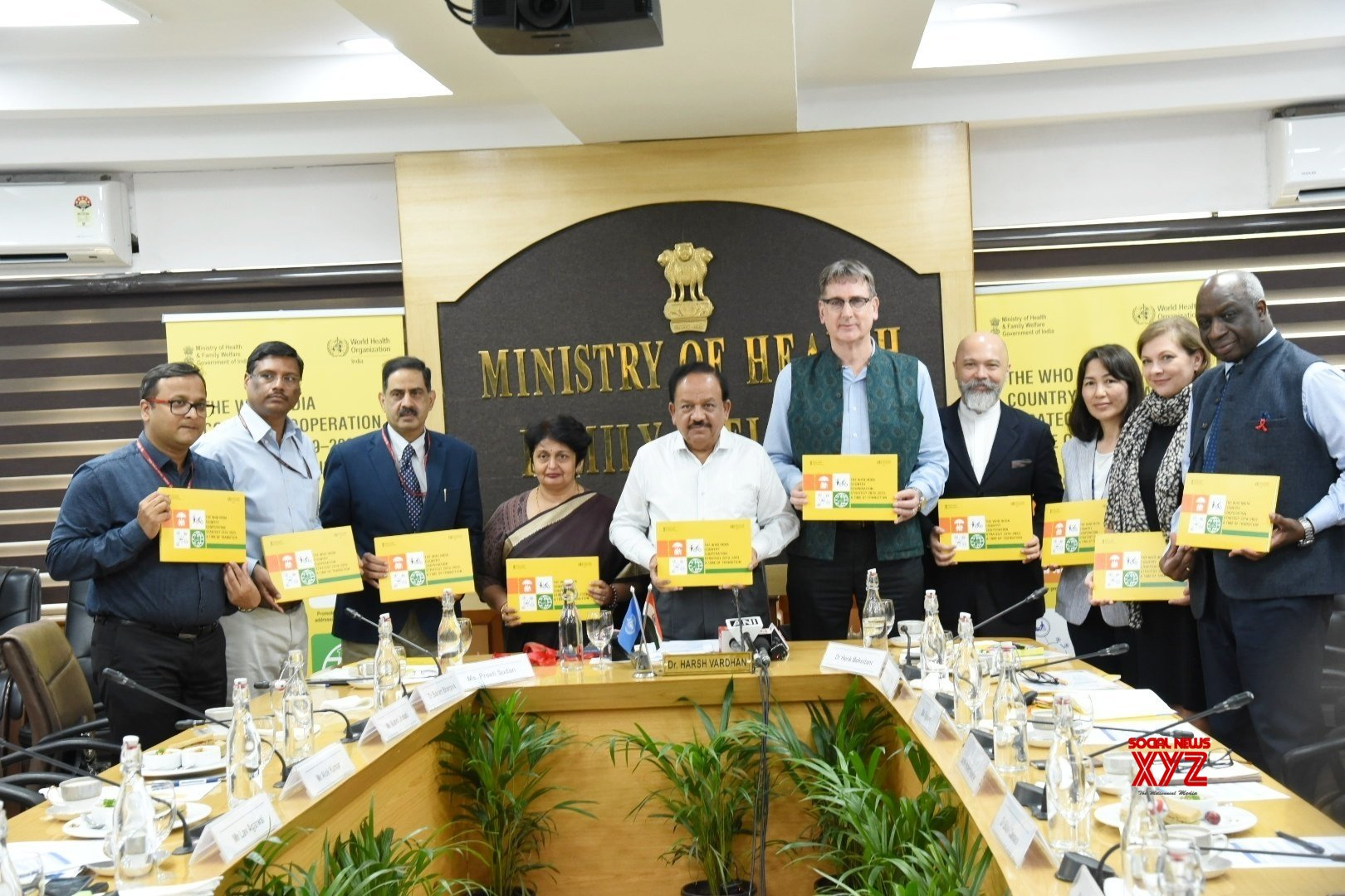 New Delhi: Harsh Vardhan releases WHO India Country Cooperation Strategy 2019 - 23 document #Gallery