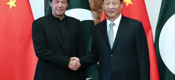 BEIJING, Oct. 9, 2019 (Xinhua) -- Chinese President Xi Jinping meets with Pakistani Prime Minister Imran Khan at the Diaoyutai State Guesthouse in Beijing, capital of China, Oct. 9, 2019. (Xinhua/Liu Weibing/IANS)