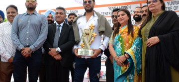 Amritsar: Foremr cricketer Yuvraj Singh during inauguration of his cricket academy at a school in Amritsar Oct 11, 2019. (Photo: IANS)