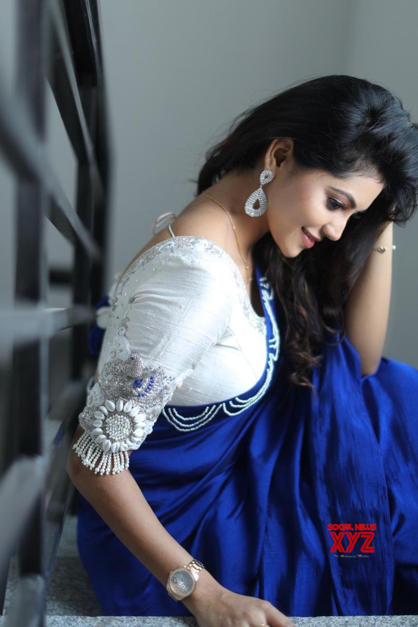 Actress Athulya Ravi Looking So Cute And Pretty In A Saree From A Latest Photoshoot