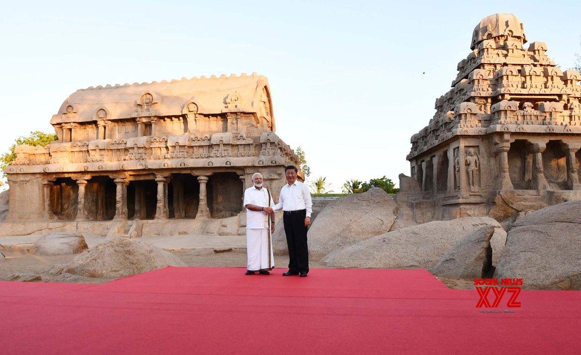 Modi guides Xi around Mahabalipuram, offers Tamil delicacies