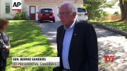 Sanders lashes out at Trump on policies [HD] (Video)