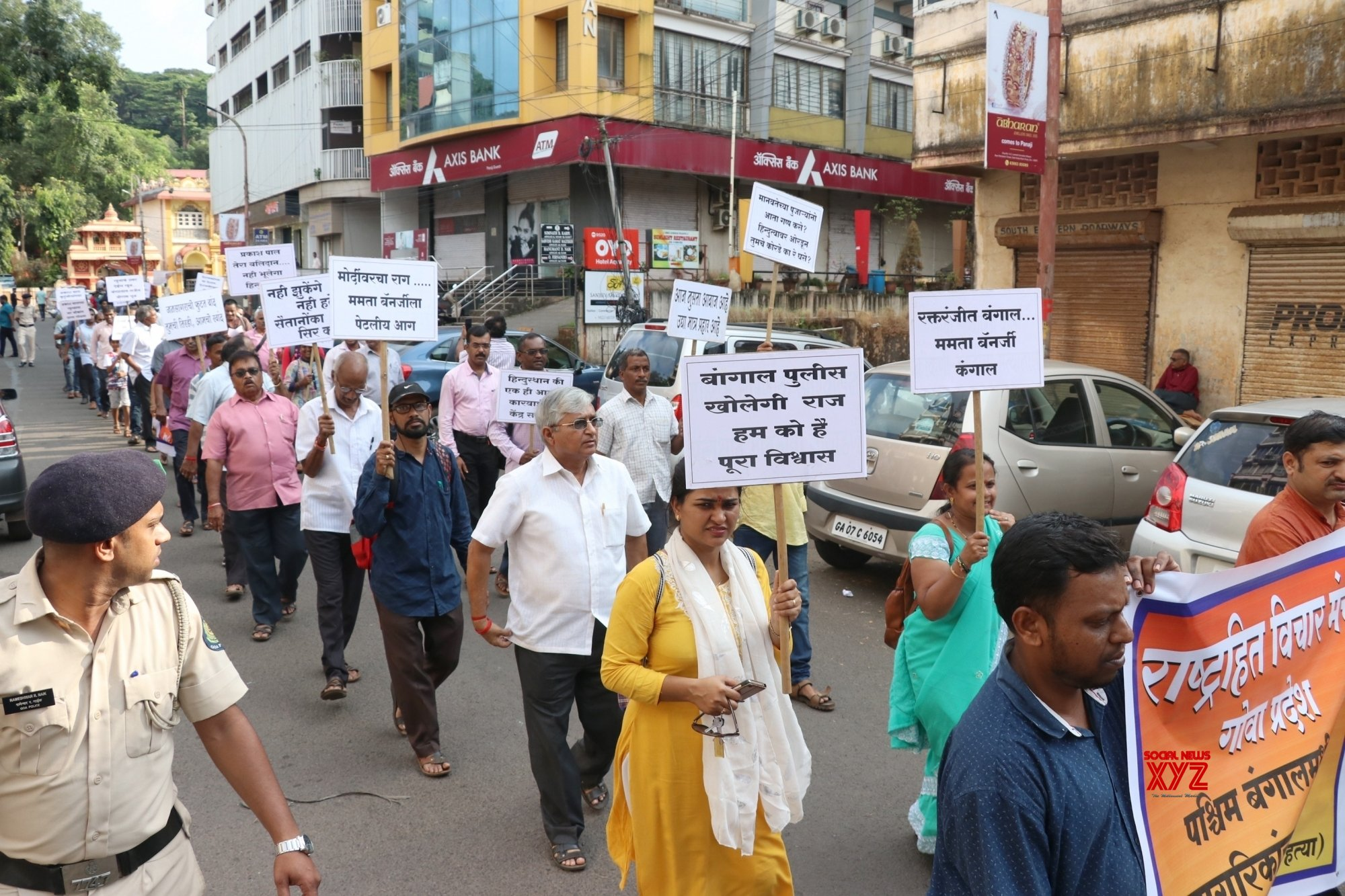 Panaji: Former Goa RSS chief takes out protest march against Murshidabad murders #Gallery