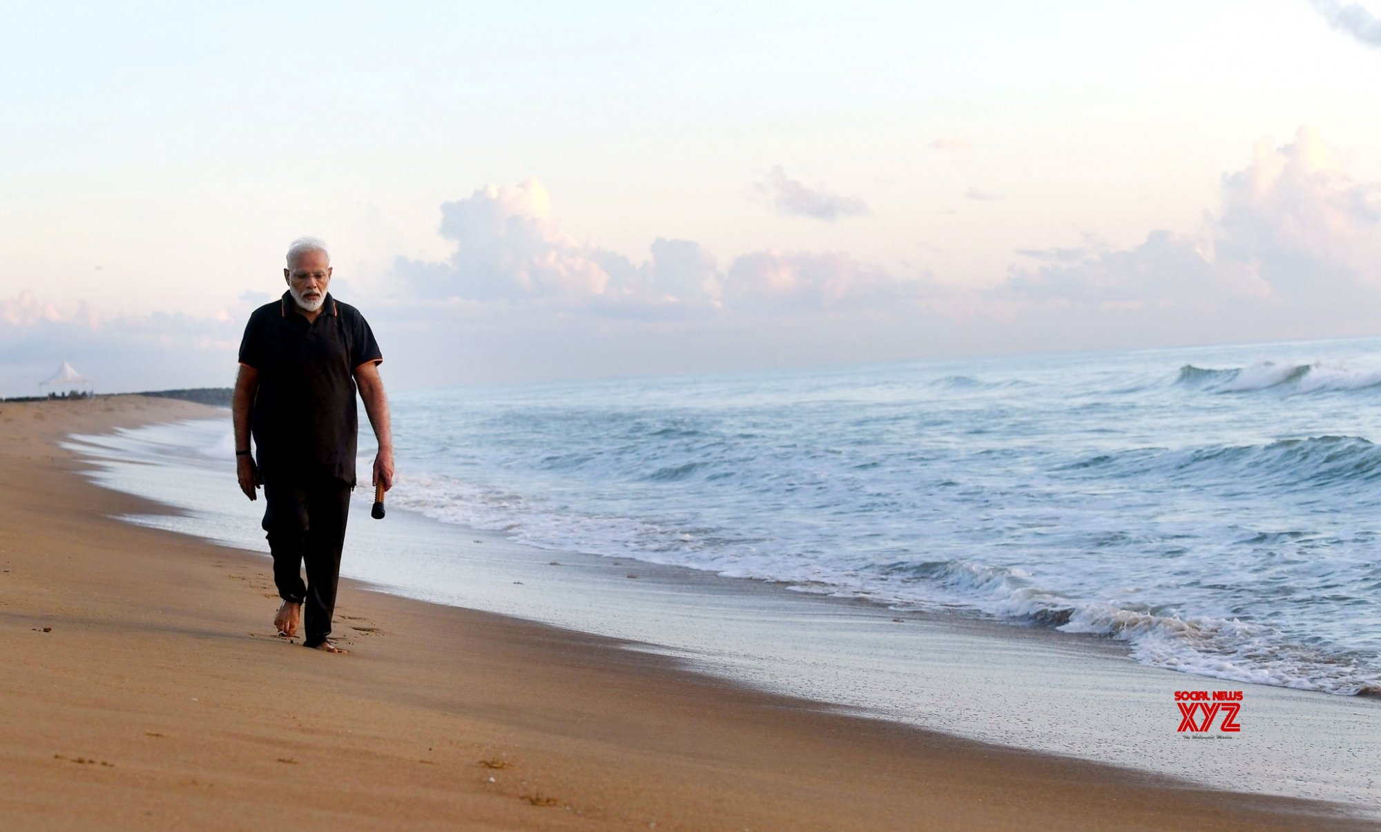 Mahabalipuram: PM Modi's refreshing walk and exercise in Mahabalipuram #Gallery