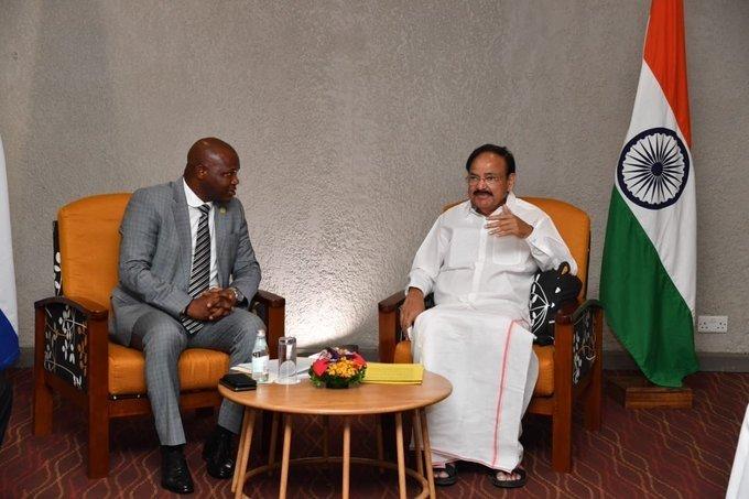 Freetown: Venkaiah Naidu meets Acting Speaker of Sierra Leone's National Assembly #Gallery